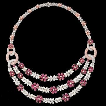 Diamonds and Ruby NecklaceJSJ0128