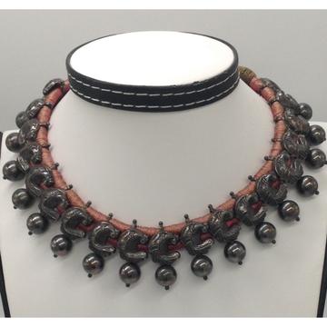 Silver 925 Oxidised Balls Tussi Necklace JNC0018