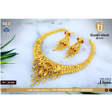 916 Gold Traditional Necklace Set TJ-N04