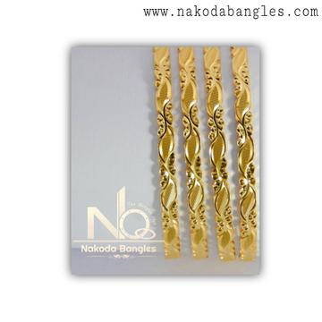 916 Gold CNC Bangles NB - 1375