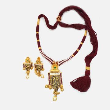 916 Gold Antique Wedding Necklace Set RHJ-4764