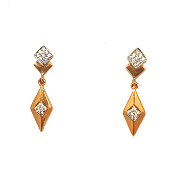 18k rose gold designer earrings mga - btg0268