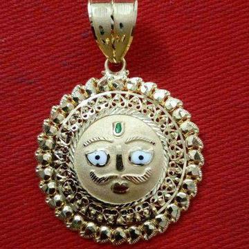 916 Gold Designer Surya Pendant