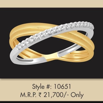 916 Gold Fancy Double Tone Ring