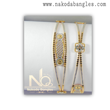 916 Gold CNC Bangles NB - 1325
