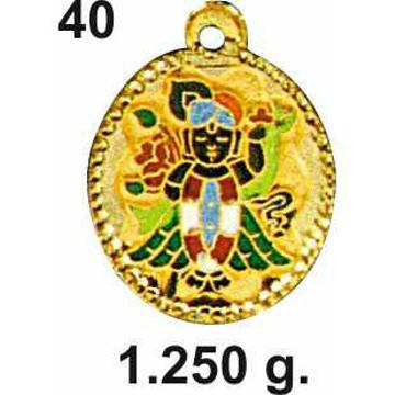 22KT Gold Shrinathji Pendant DC-P040
