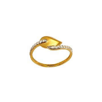 22K Gold Matte Finish Designer Ring MGA - LRG1070