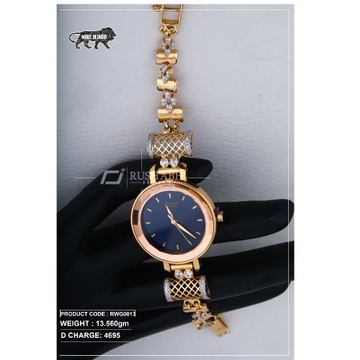 18 Carat Gold Ladies rose gold watch Titan Raga rwg0013