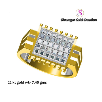 22KT Gold Attractive Gents Wedding Ring by
