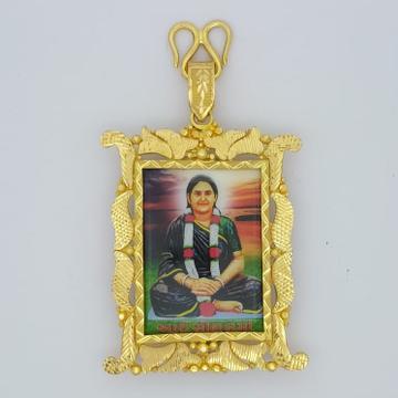916 Gold Fancy Gent's Sonal Maa Fram Pendant