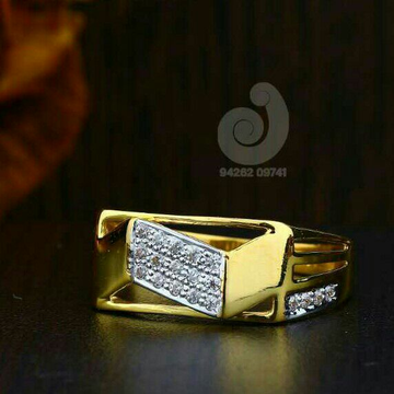 916 Cz Gold Fancy Ring