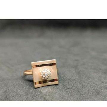 18k Ladies Exclusive Rose Gold Ring R-23027