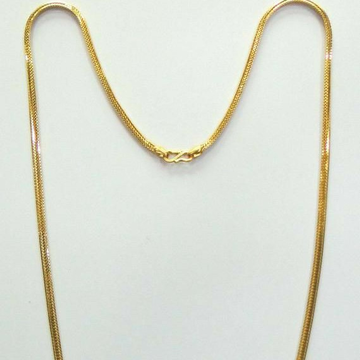 22KT / 916 Gold Plain casual ware chain for unisex... by