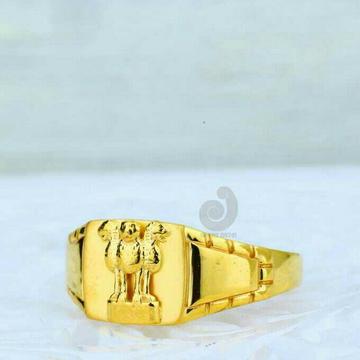 22ct Ashoke Stambh Plain Ring