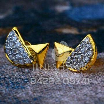 18kt Stylish Plain Gold Cz Ladies Tops ATG -0203