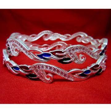 Silver 925 dailywear bangles fancy meena sk925-24