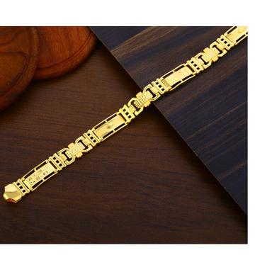 916 Gold Gentlemen's fancy Plain Bracelet MPB385