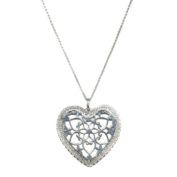 925 Sterling Silver Heart Shaped Necklace MGA - STS0002