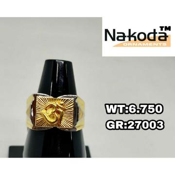 916 Men's stylish gold ring