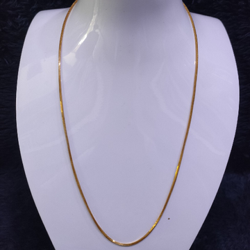 22KT/916 Yellow Gold Fancy Plain Chain GCH-191