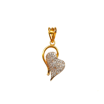 22K Gold Heart Shaped Modern Pendant MGA - PDG0104