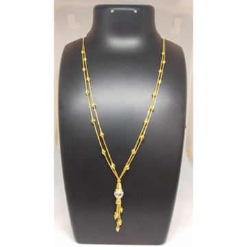 22 KT GOLD FANCY DESIGNED DOUBLE CHAIN DOKIYA by