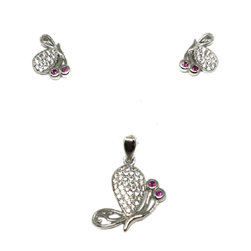925 Sterling Silver Butterfly Shaped Pendant Set MGA - PTS0085