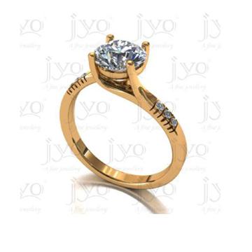 916 Gold Ladies Diamond Wedding Ring