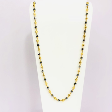 22kt, 916 HM, Yellow Gold, black crystal Chain Unisex JKC029