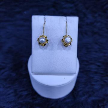 18KT/750 Yellow Gold Fancy Warmi Hanging Earrings GTB-21