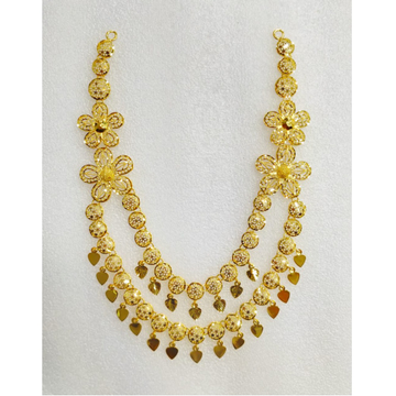 916 Gold Designer Necklace For Wedding MJ-N005
