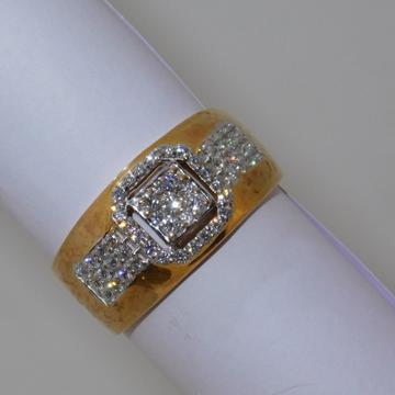 18K gold diamond ring agj-gr-174