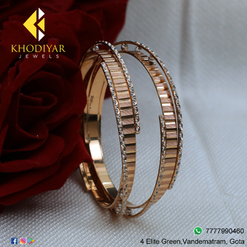 22KT Gold Fancy Bangle For Women KJ-B006