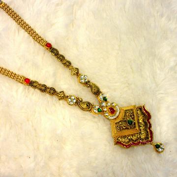 Gold 22k 916 hallmark jadtar antique long set by