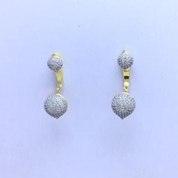 fancy gold earrings by