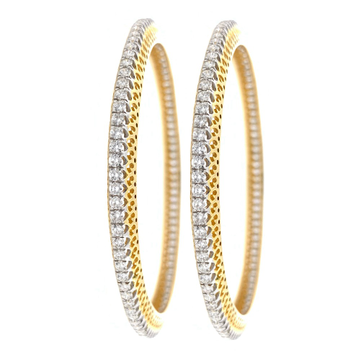 Single Line Classic Diamond Bangle in Yellow Gold 7BNG19