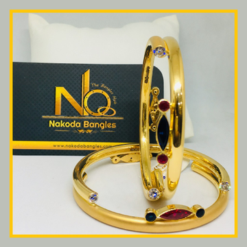 916 Gold Pipe Bangles NB - 528