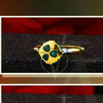 18kt Gold Exclusive Single Stone Ring
