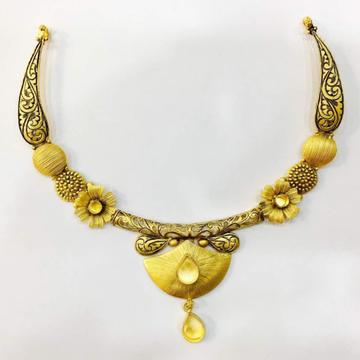 916 Gold Antique Bridal Necklace Set VJ-N016 by