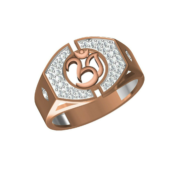 18K Exclusive Outwear Gent's Rose Gold Ring31315