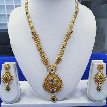 916 Gold Fancy mangalsutra RJ-A001 by