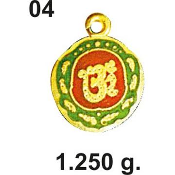 916 Gold Aum Pendant 04