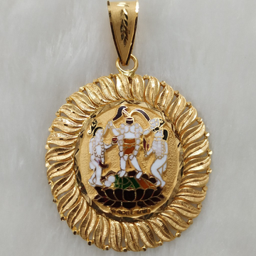 fuljogani ma gold minakari pendant