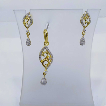 840 gold fancy light weight pendant set rj-ps003