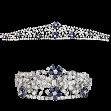 Diamonds and Blue SapphiresBraceletJSJ0149
