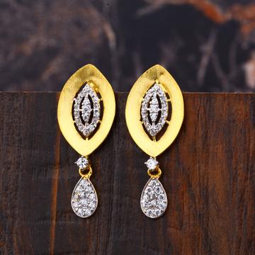 Ladies 22K Gold Fancy Earring -LFE257