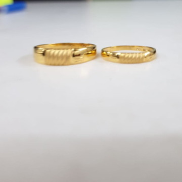 22KT Yellow Gold Spellbound Couple Ring For Unisex