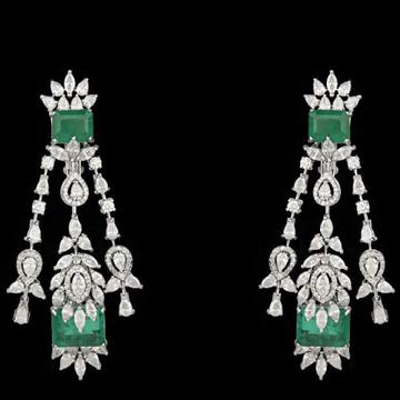 Diamonds and Emeralds EarringsJSJ0134