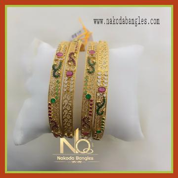916 Gold Chakari Bangles NB-076