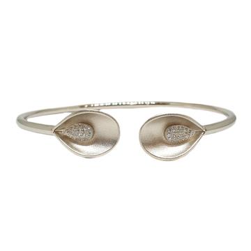 925 Sterling Silver Matte Finish Modern Bracelet MGA - BRS1737